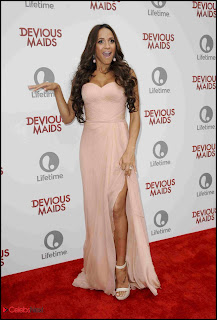 Dania Ramirez Pictures in Strapless Dress at Lifetime's Devious Maids Premiere Party  0002.jpg