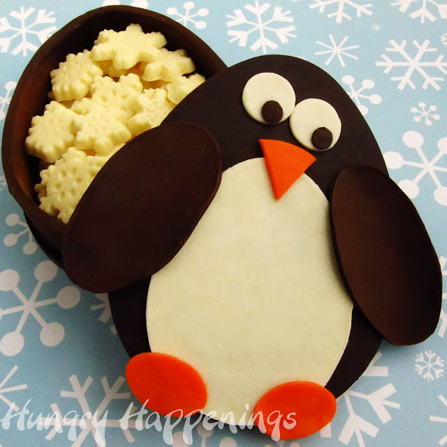 Christmas Penguin Template Chocolate penguin box filled