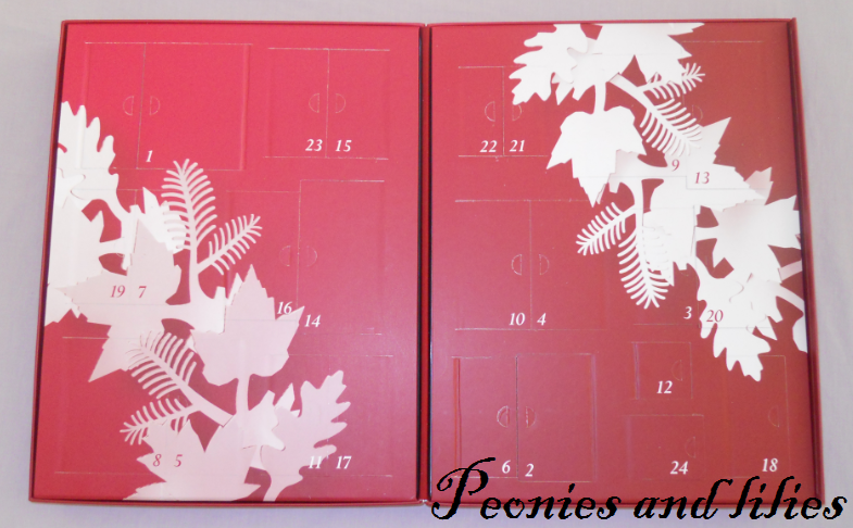 Liz Earle 24 days of Christmas advent calendar | *Peonies and lilies*