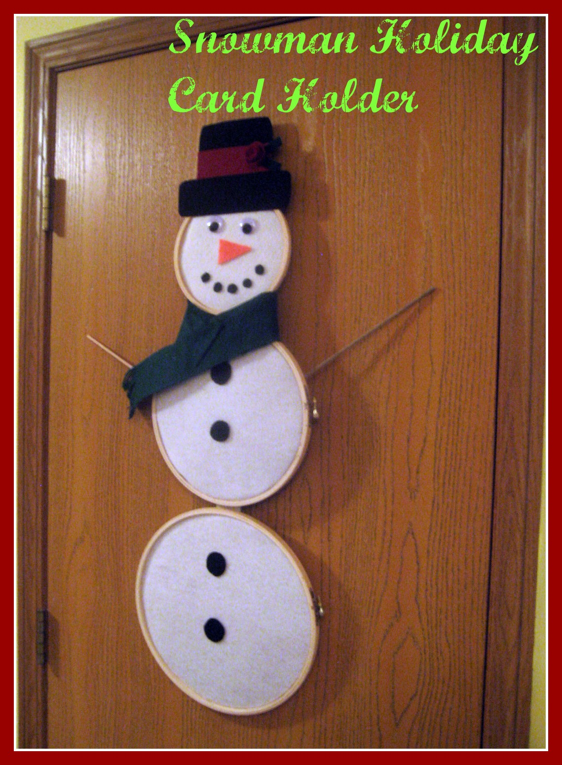 snowman holiday card holder the cards we drew