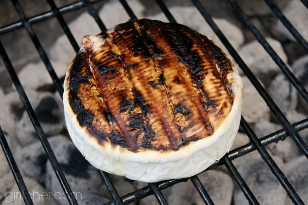 grilling brie for Grilled Brie with Tropical Fruit Compote by @girlichef