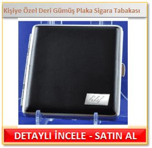 Kişiye Özel Deri Gümüş Plaka Sigara Tabakası
