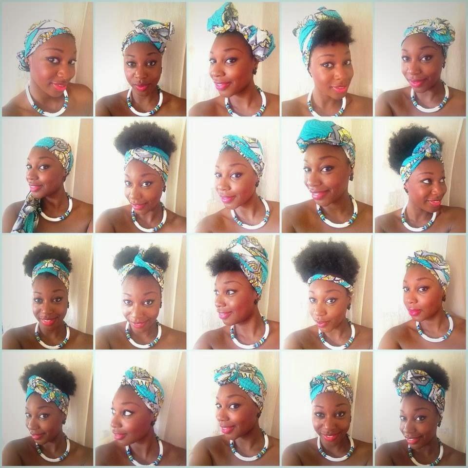 Idées coiffure cheveux crépus Attaché foulard aka Headwrap