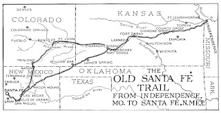 Map of Old Santa Fe Trail