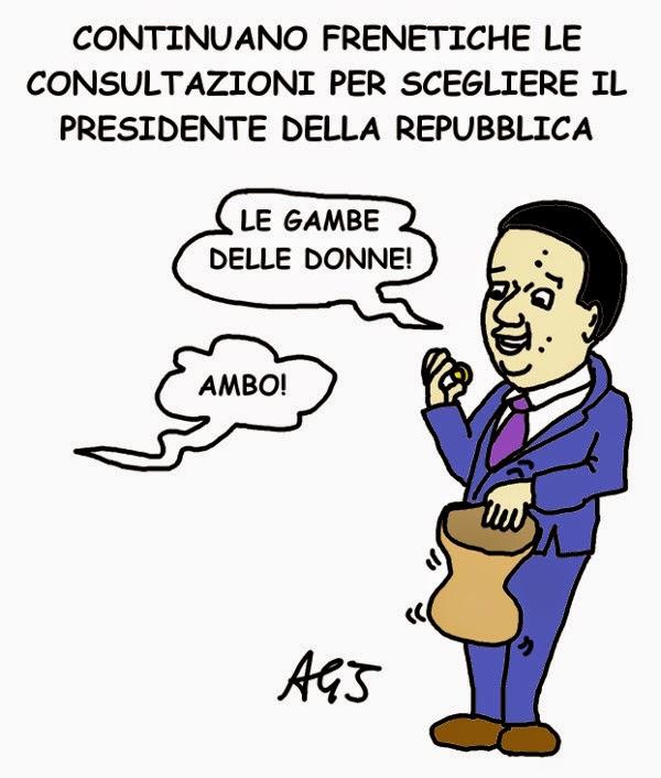 Renzi, PD, presidente della repubblica, elezione presidente satira vignetta