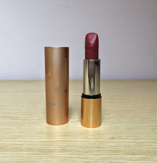 Review: Kiko Velvet Mat Satin Lipstick 614 Lampone Scuro