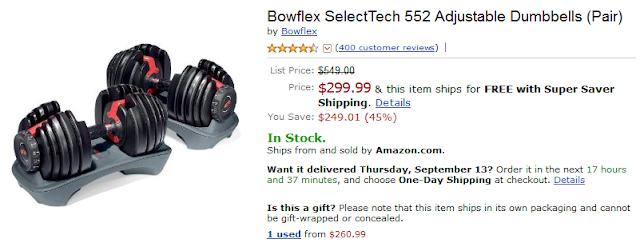 Bowflex SelectTech 552 Coupon