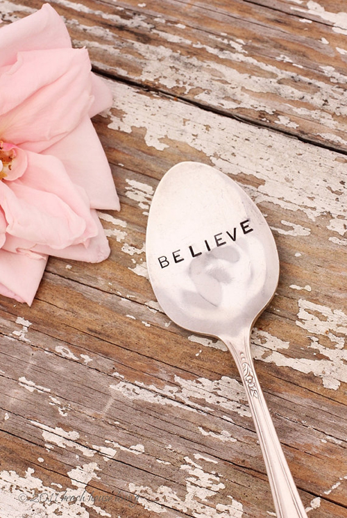 Monday Inspiration, Believe, Etsy Vintage Silverware Believe