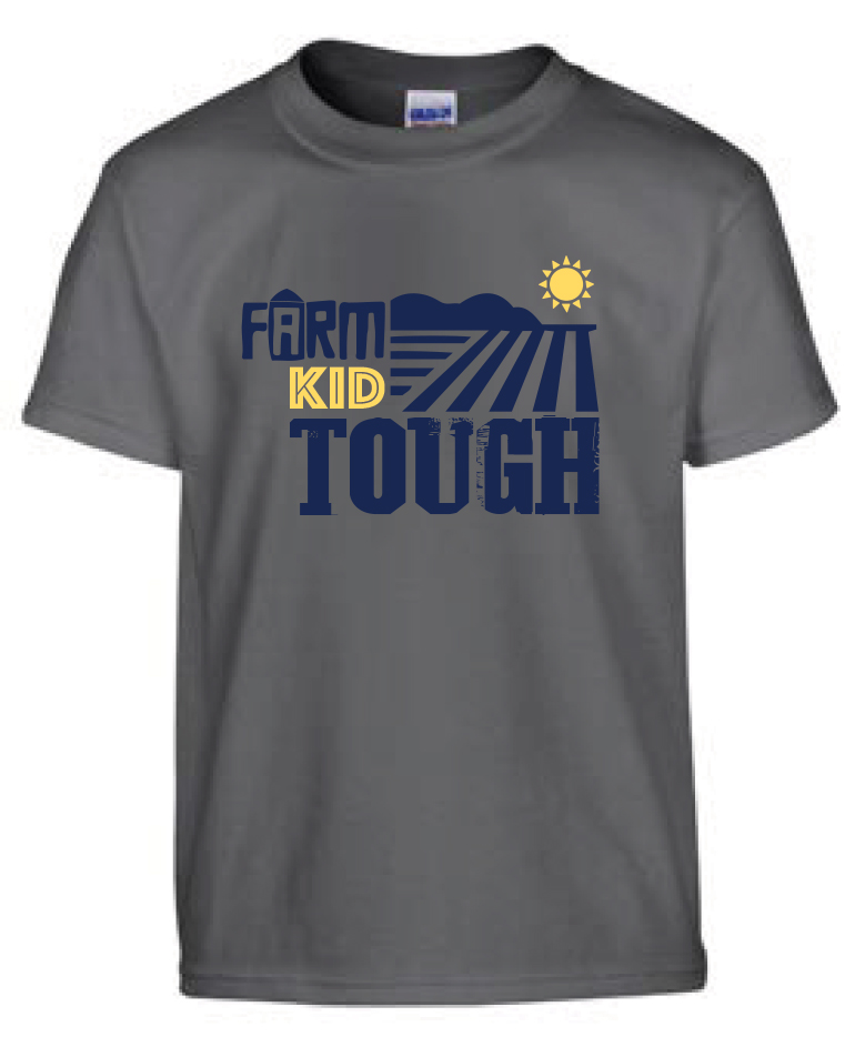 Farm Kid Tough - Charcoal Gray