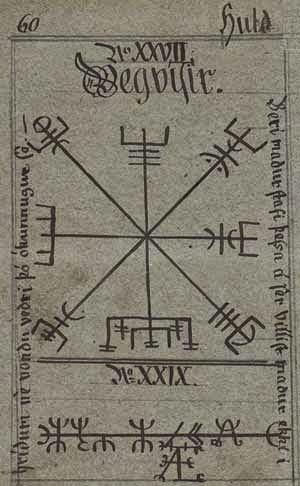 Questionement sur des symboles Huld-Vegvisir