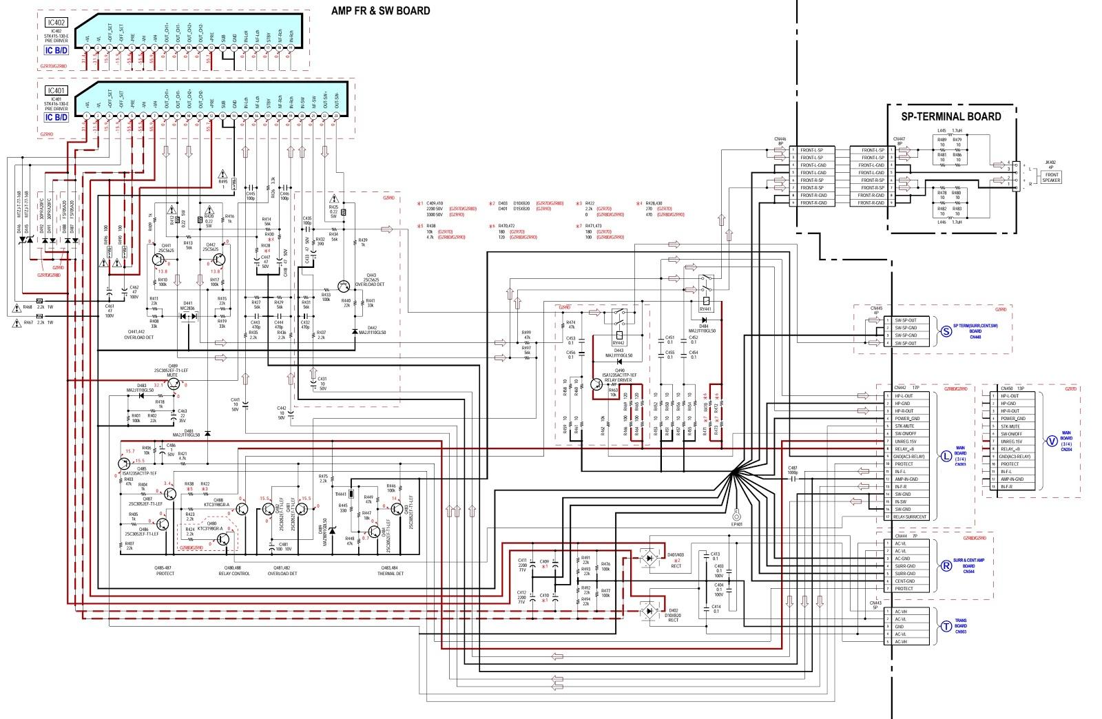 Схемы музыкальных центров sony