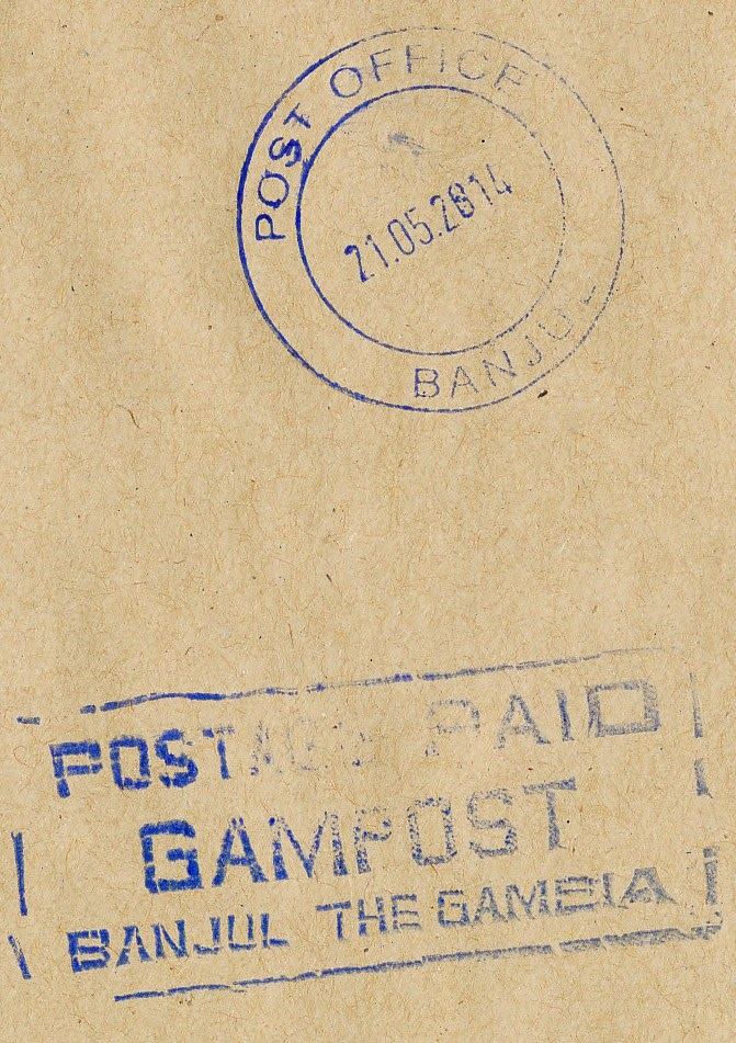 gampost, post, gambia, stamp
