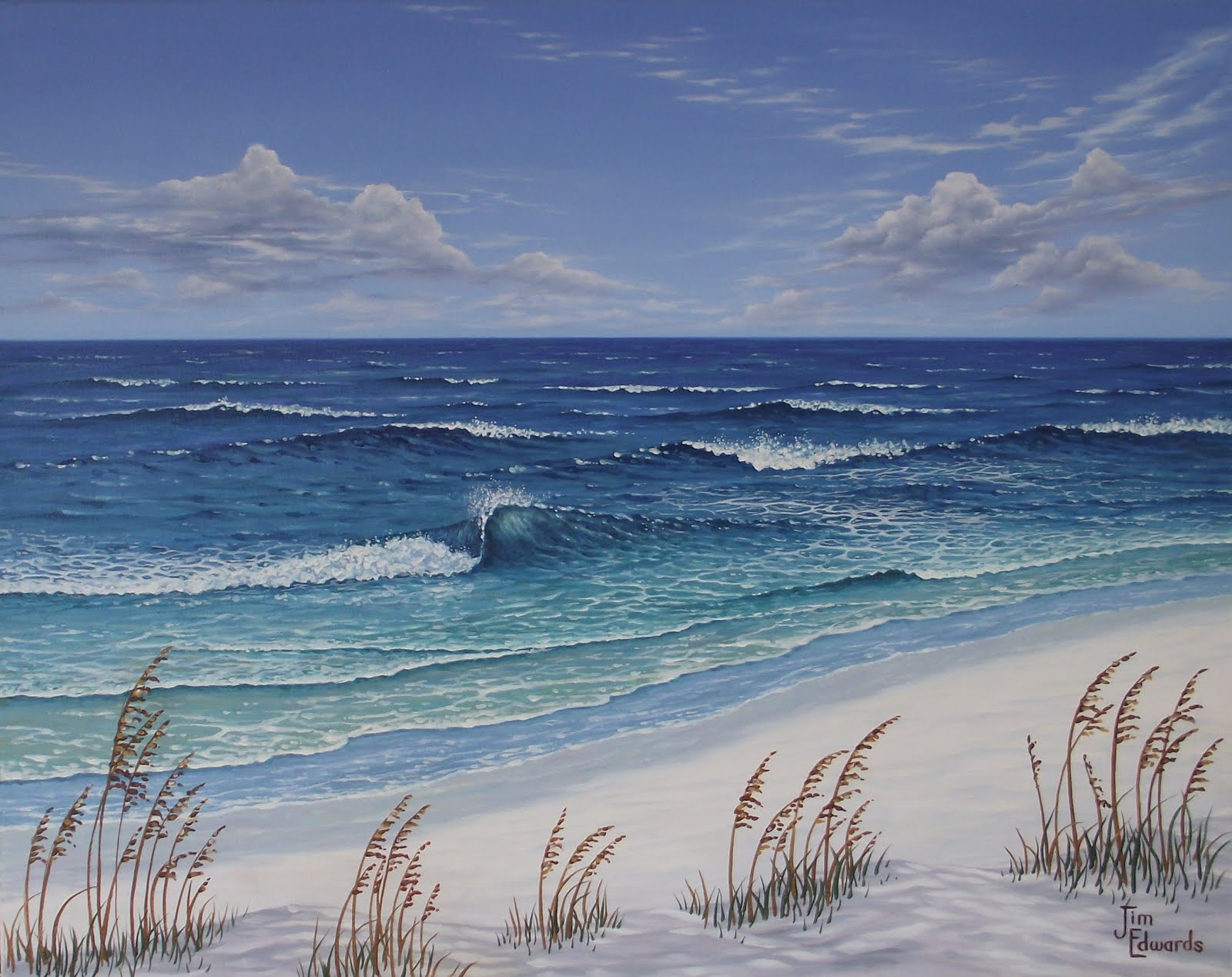 Day at the Beach 22 x 28 (Sold)