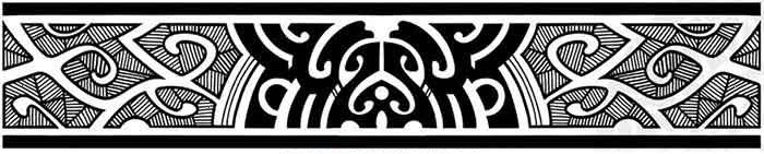 Armband Maori tattoo stencil