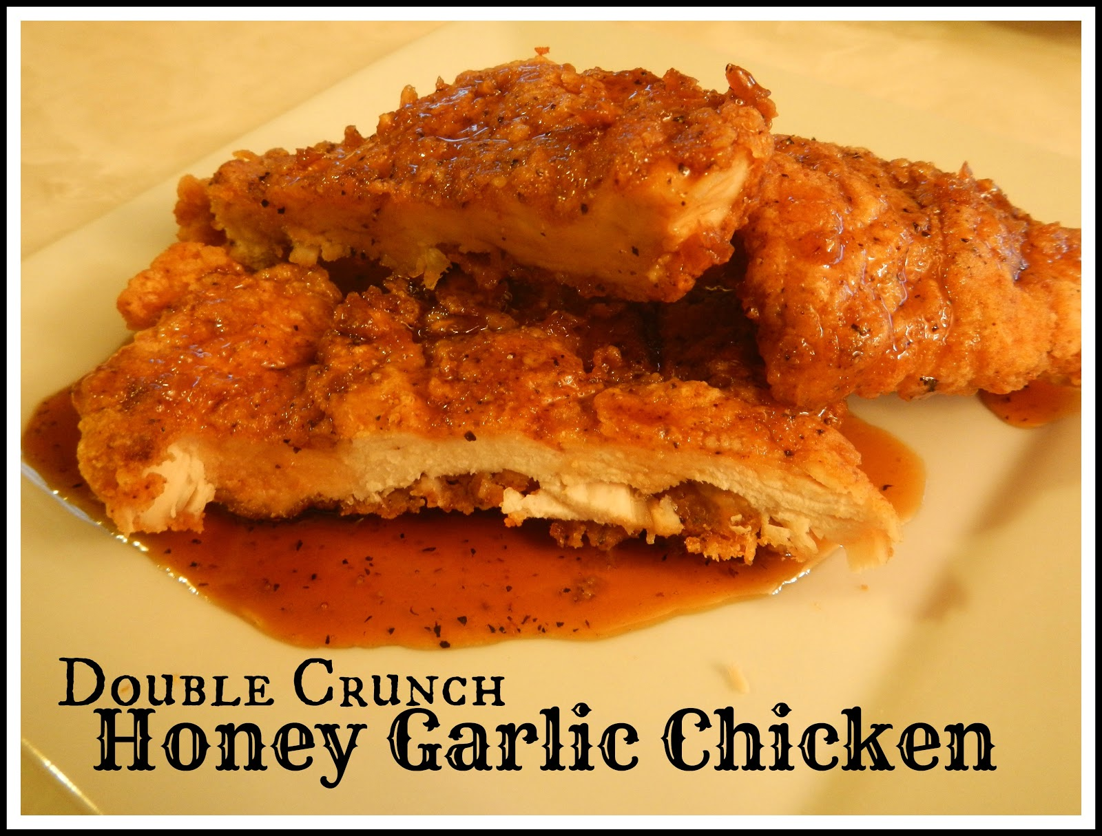 Double Crunch Honey Garlic Pork Chops. Juicy on the inside but super crunchy on the outside, these double dipped pork chops get dipped in an easy, flavourful Honey Garlic Sauce. Double Crunch Honey Garlic Pork Chops. Fully cooked to tender juicy perfection These Honey Garlic Pork Chops taste even.