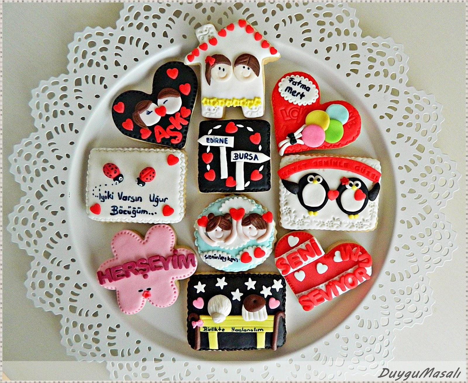 fatma hanımın sevgilisine hediye kurabiyeler