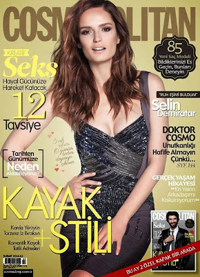 Selin Demiratar Photos from Cosmopolitan Turkey Magazine Cover February 2014 HQ Scans