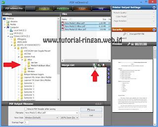 Pilih file-file PDF anda