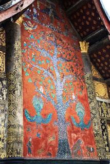 gold leaf, mosaic, tile, temple, Luang Prabang, Laos