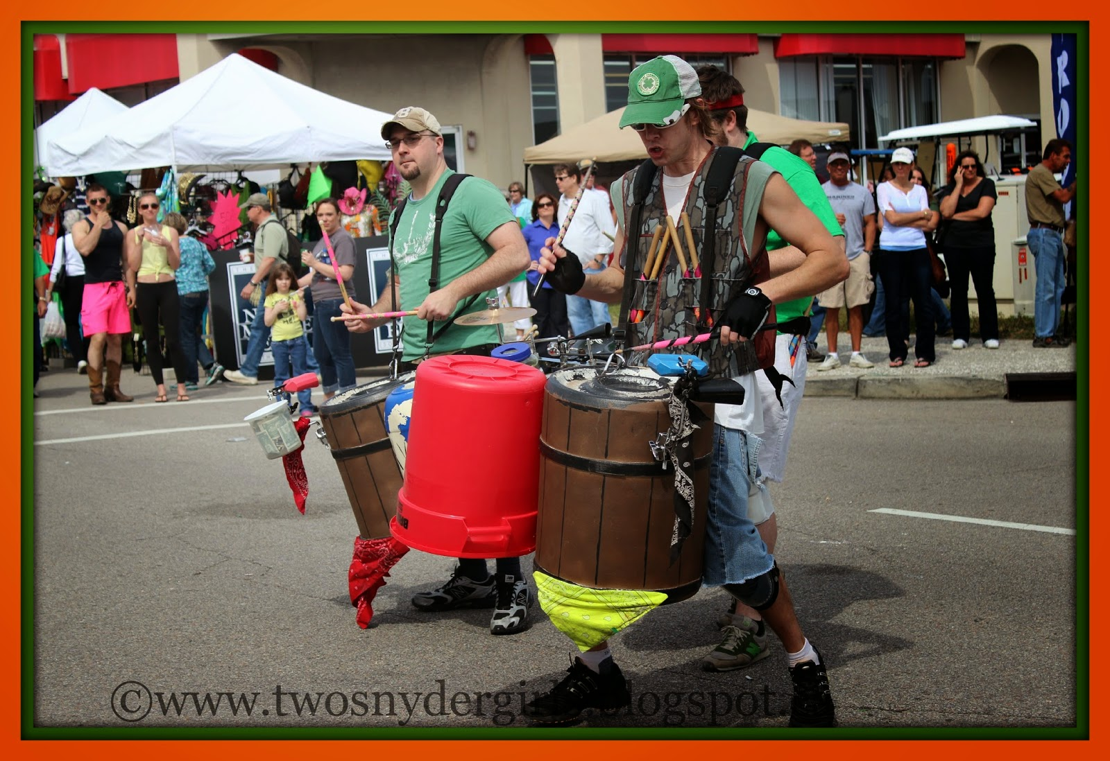 St. Patrick's Day wash drum band