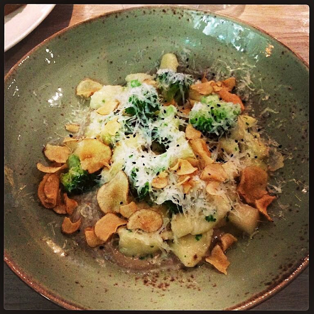 potato gnocchi and Tomme cheese