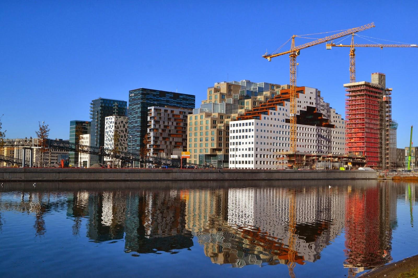 Oslo Bjørvika skyline