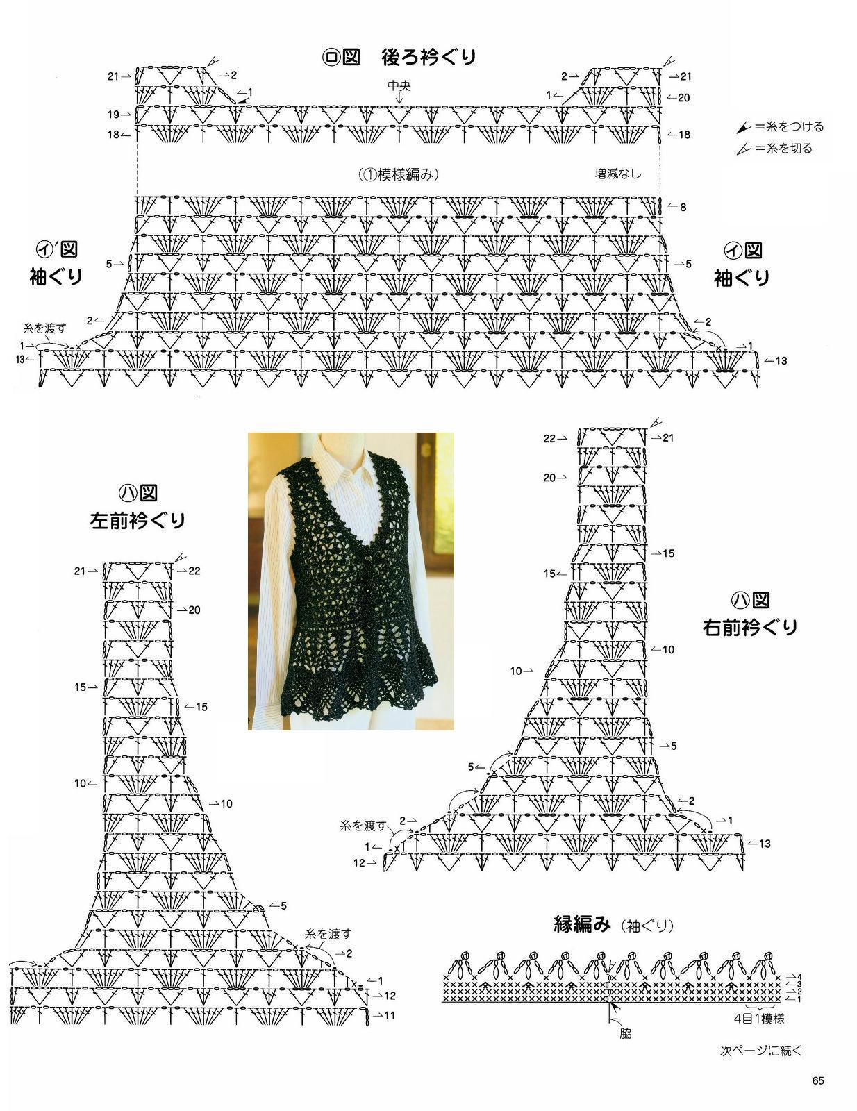 Вязание жилетки для женщин крючком со схемами