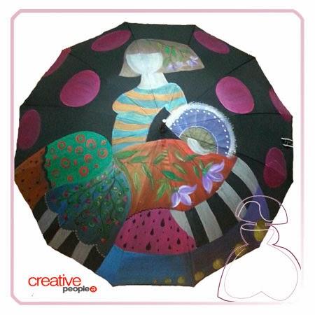 Pintar un paraguas a mano por Sylvia Lopez Morant