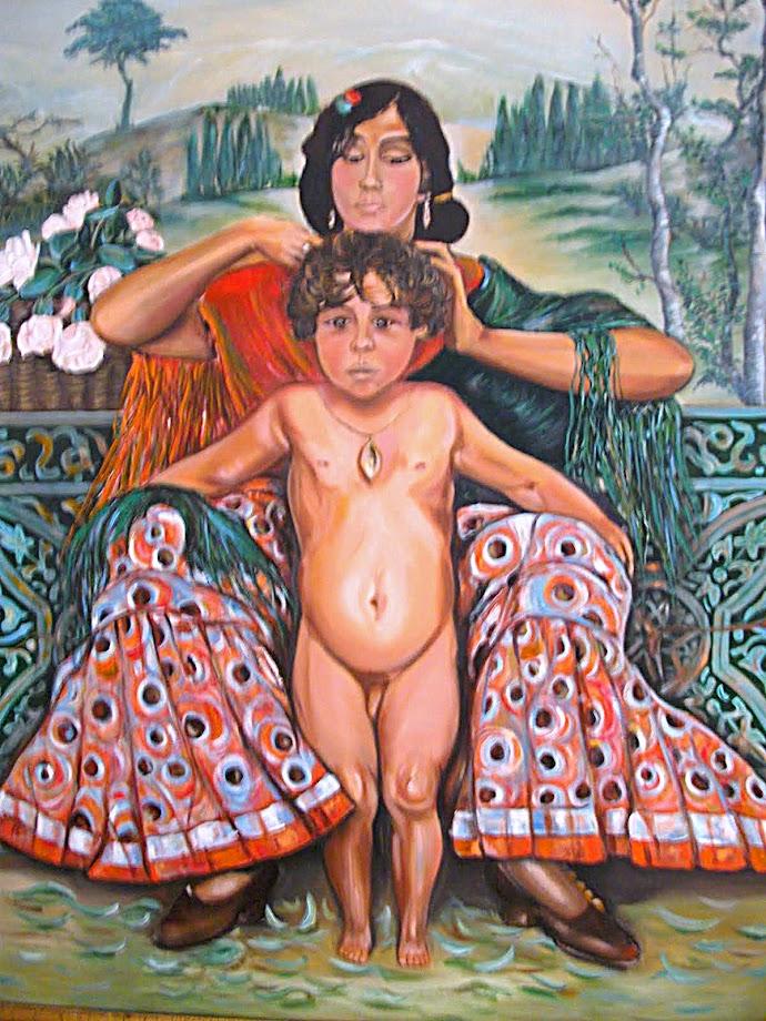 Juan Rodriguez Moya, pintura al óleo, pastel y acrílico.