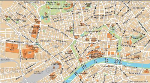 Frankfurt center map