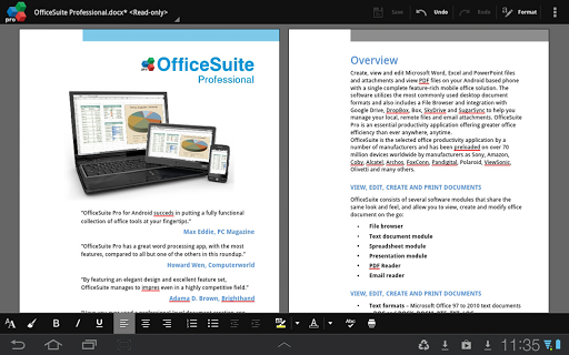 Application Name : OfficeSuite Pro 7 (Trial)