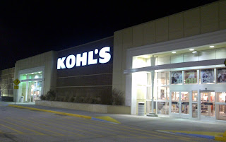 Kohl's store at night