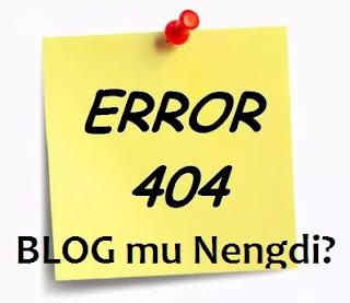 Seputar Error 404 : Page Not Found - Halaman Tidak Ditemukan