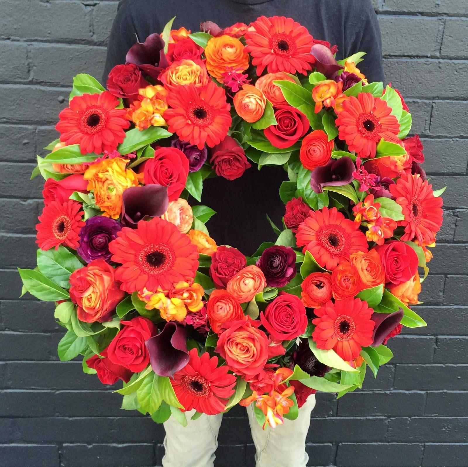 Urban Flower Three Beautiful Funeral Wreaths