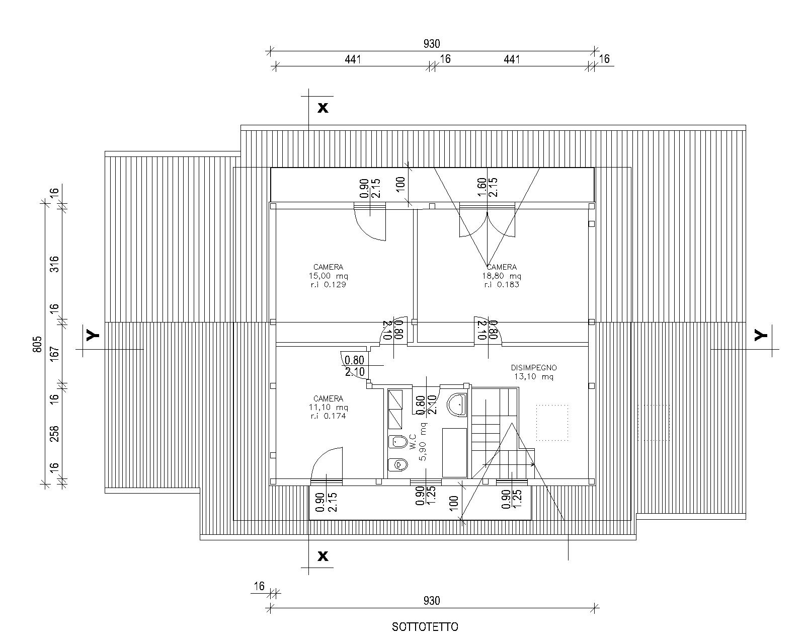 Progetti di case in legno casa bifamiliare 222 mq - Progetto casa 60 mq ...