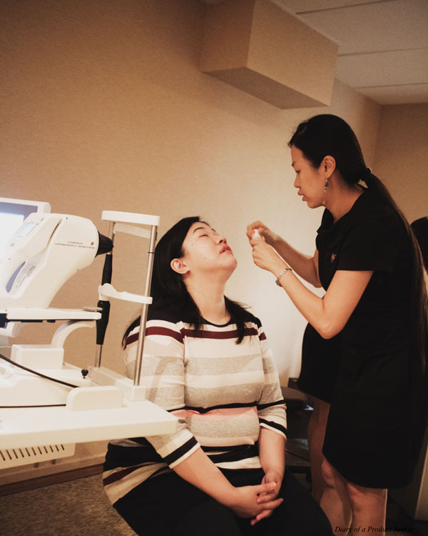 Shinagawa LASIK & Eye Center Singapore Pre Test