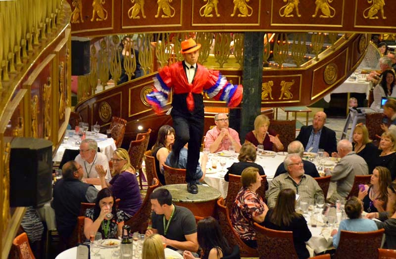 Entertainment In The Empire Restaurant Main Dining Room Every Night Between Course And Dessert There Is A Brief Interlude Such As This