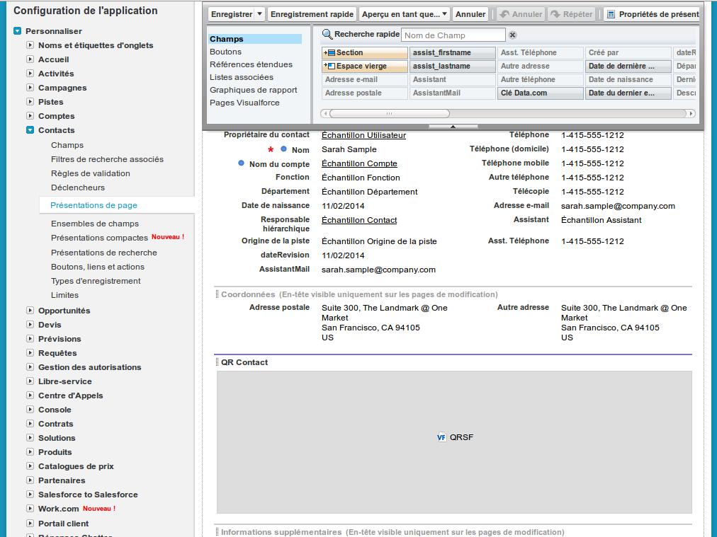 Screenshot explicatif a propos de l'intégration des pages dans le template