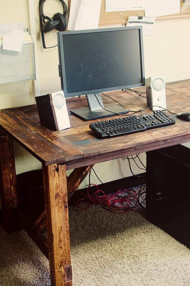 Mesa de palete de madeira