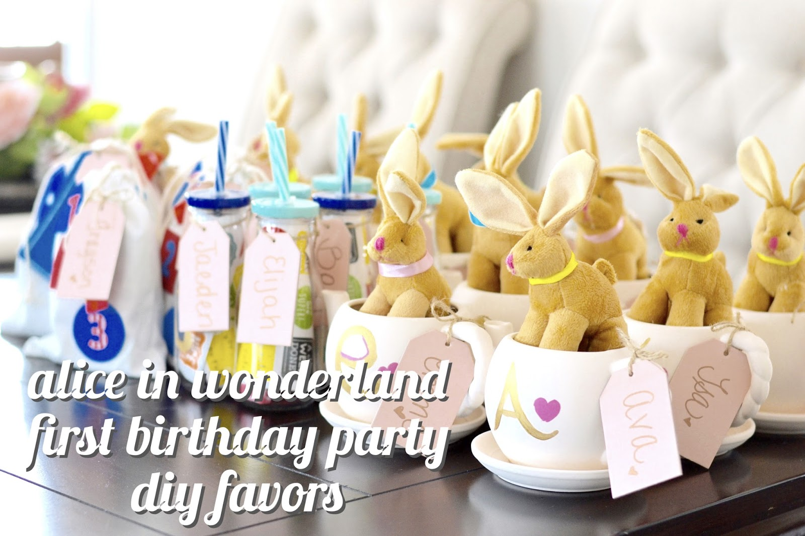 birthday party favor ideas alice in wonderland party
