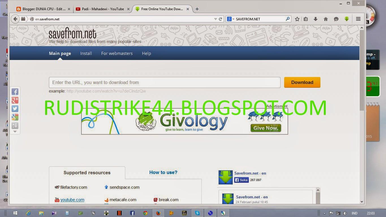 Cara Download Video Streaming Di Blogspot