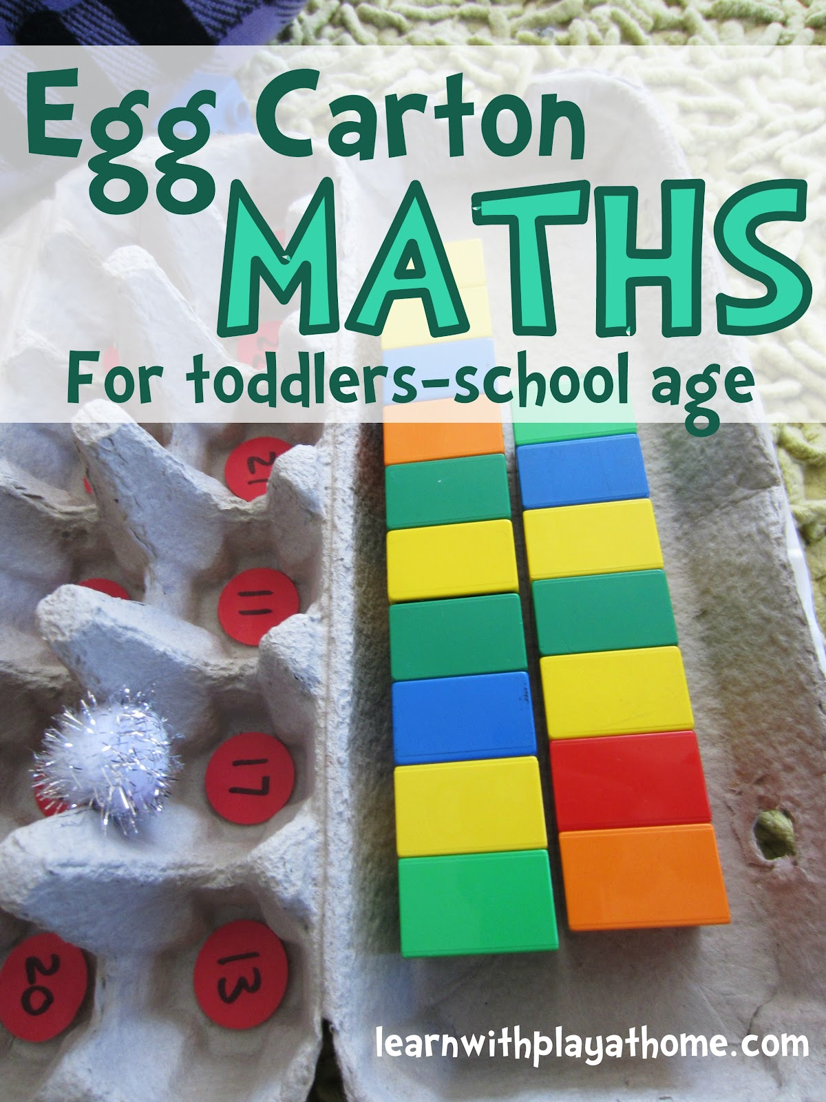 Learn with Play at Home Egg Carton Maths Toddlers to School Age
