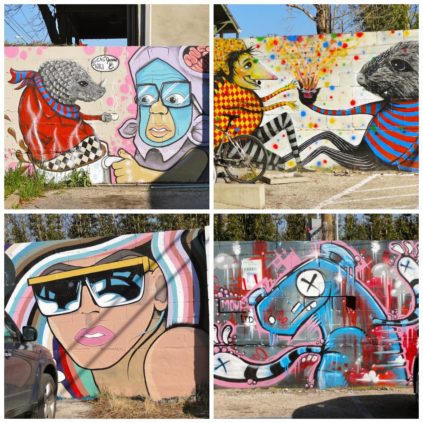 Austin Mural Coffee Creatures: 1405 E 7th