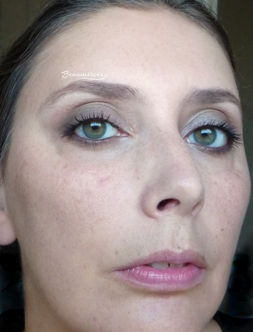 Guerlain Ecrin 4 Couleurs Les Fumes: full face picture wearing the quad