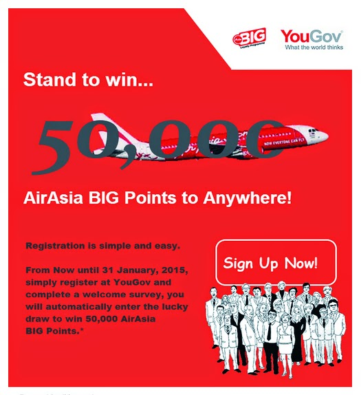 AirAsia BIG Points promotion from YouGov