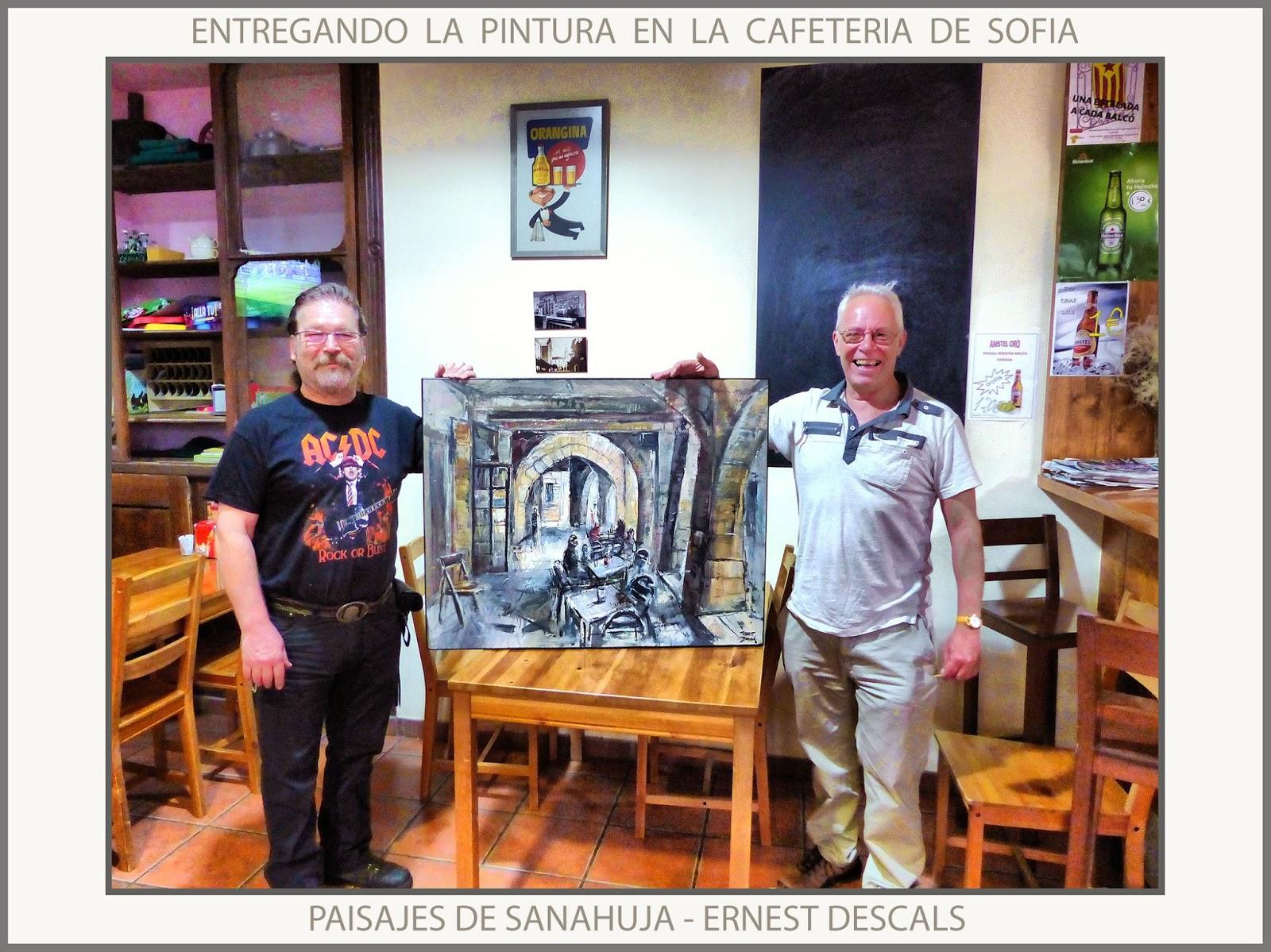 Ernest Descals Artista Pintor Sanahuja Pintura Cafeteria