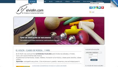 El Violín. Página de divulgación musical. Clases, talleres y actividades musicales para todos los públicos. www.directoriopax.com