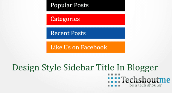 Design Style Sidebar Title in Blogger