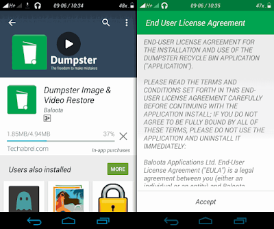 how to add a recycle bin feature in android device snap 1