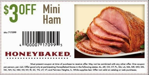 Discount coupons honey baked ham store